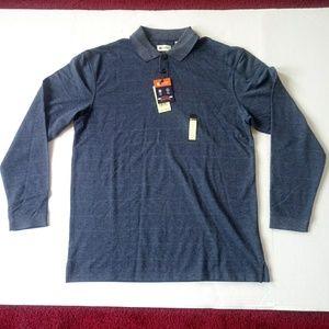 New Haggar Classic-Fit long sleeves polo shirt